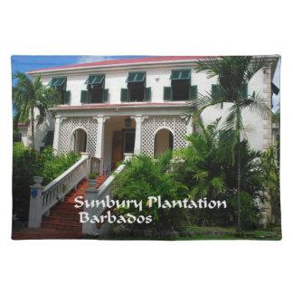 Sunbury-Plantage in Barbados Stofftischset