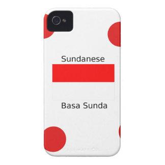 Sundanese-Sprache und Indonesien-Flaggen-Entwurf iPhone 4 Hülle