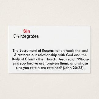 Sünde löst sich auf visitenkarte