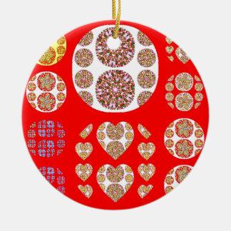 Sundecor Rundes Keramik Ornament