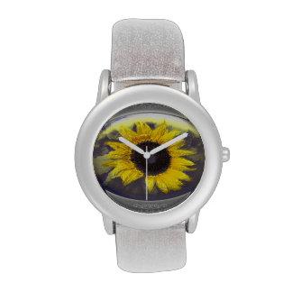 Sunflower medaillion wrist watches