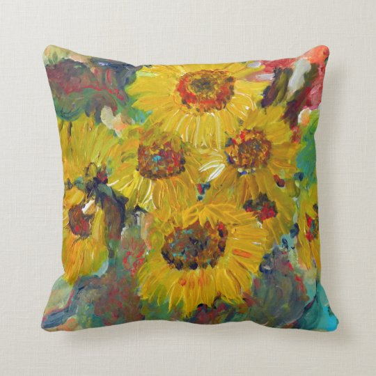 sunflower pillow kissen