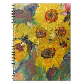 sunflower writing pad notizblock