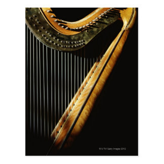 Sunlit Harfe Postkarte