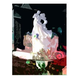 Sunlit Romance moderne Hochzeits-Mitteilung Postkarte