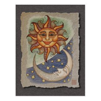 Sunmond u. -sterne postkarte