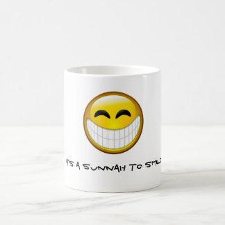 Sunnah zum zu lächeln kaffeetasse