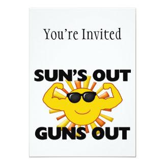 Suns heraus schießt heraus 12,7 x 17,8 cm einladungskarte