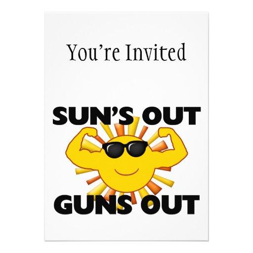 Suns heraus schießt heraus einladung