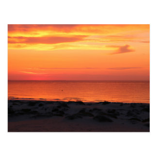 Sunset at the beach - Postkarte
