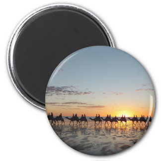 Sunset in Broome Runder Magnet 5,7 Cm