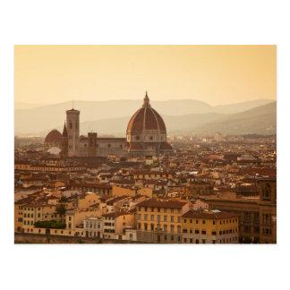 Sunset in Florenz Postkarte