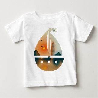 Sunset_sail Boot Baby T-shirt