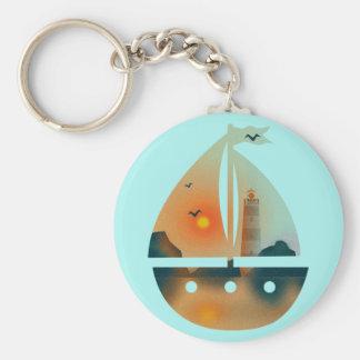 Sunset_sail Boot Schlüsselanhänger