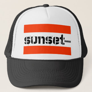 sunsettext truckerkappe