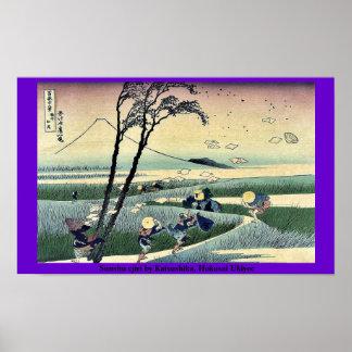 Sunshu ejiri durch Katsushika, Hokusai Ukiyoe Plakatdruck