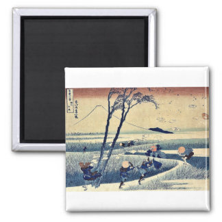 Sunshu ejiri durch Katsushika, Hokusai Ukiyoe. Quadratischer Magnet