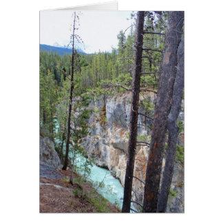 Sunwapta Falls, Alberta, Kanada Karte