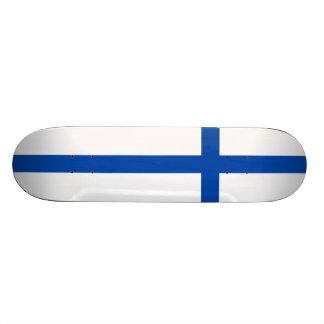 Suomen Lippu - die Flagge von Finnland Bedruckte Skateboarddecks