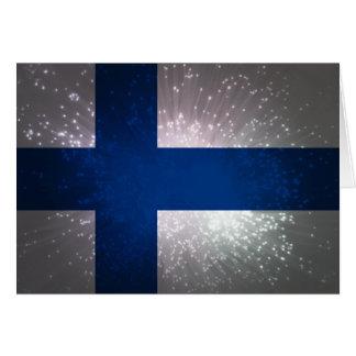Suomen lippu karte