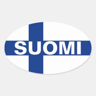 Suomi (Finnland) Ovaler Aufkleber
