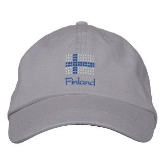 Suomi Hattu - finnischer Flaggen-Hut Bestickte Kappe