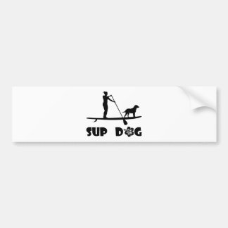 SUP Hund stehend Autoaufkleber