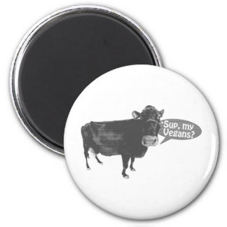 'sup meine Vegans Runder Magnet 5,7 Cm