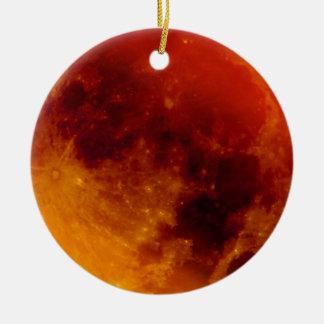 Super blaues Blut-Mond Keramik Ornament