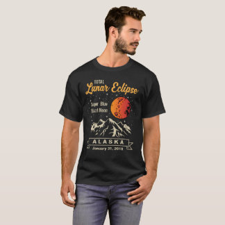 Super blaues Blut-Mond T-Shirt