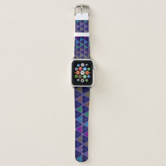 Super buntes Diamant-Muster Apple Watch Armband