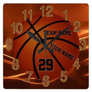Super cooler Basketball-ältere Geschenk-Ideen IHR Quadratische Wanduhr