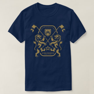 Super erstklassiger Doppellöwe-Männer (Marine) T-Shirt