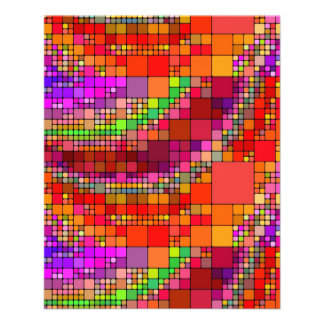 SUPER HELLE BUNTE NEONquadrate abstract-102064 Personalisierte Flyer
