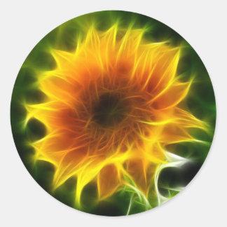 Super helle Sonnenblume Runder Aufkleber