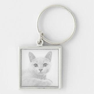 SUPER NIEDLICHE Kätzchen-Porträt-Fotografie Schlüsselanhänger