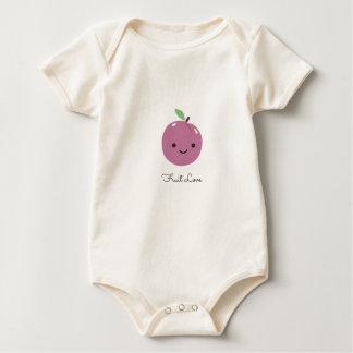 Super-Niedliche Pflaumen-Frucht-Liebe Baby Strampler