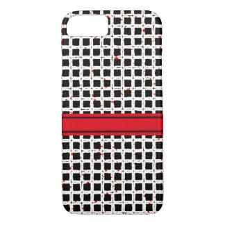 Super niedlicher Schwarz-weißer roter MusterChic iPhone 8/7 Hülle