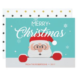 Super niedlicher Weihnachtsmann stellen Karte
