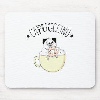 Super niedliches CaPUGccino! Möpse u. Kaffee, was Mousepad
