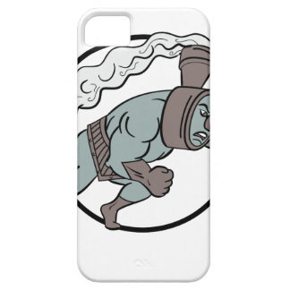Super sich fortbewegender lochender Cartoon Hülle Fürs iPhone 5