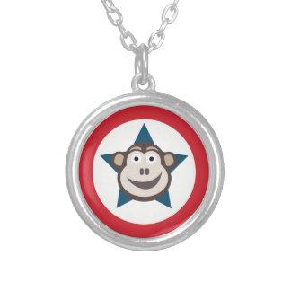 Superaffe-Halskette (rund) Versilberte Kette