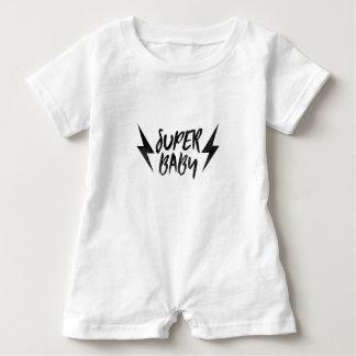 Superbaby-Blitz-Bolzen-Rock-and-Rollskript Baby Strampler