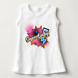 SuperBABY Superhero-Comicbabykleidergeschenk ROSA Kleid