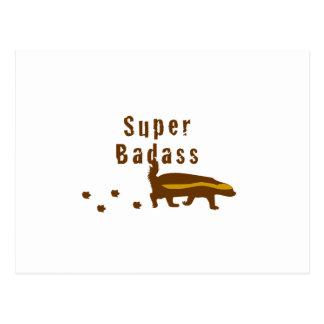 SuperBadass Honig-Dachs Postkarte