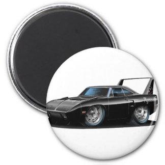 Superbird schwarzes Auto 1970 Runder Magnet 5,7 Cm