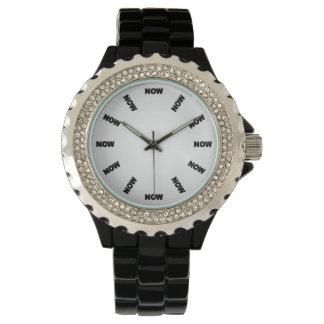 """Supercooles """"JETZT"""" passen (Weiß) No4 auf Armbanduhr"""