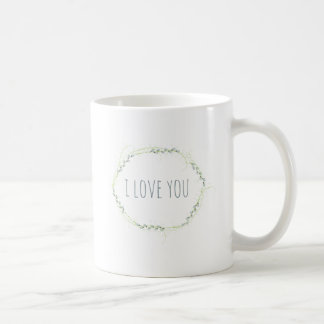 Supercute i-Liebe Sie Blumenring Kaffeetasse