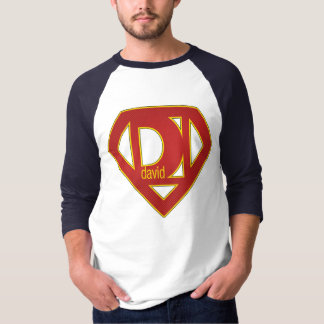 SuperDavid - 3/4 Hülse T-Shirt