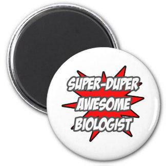 SuperDuper fantastischer Biologe Runder Magnet 5,1 Cm